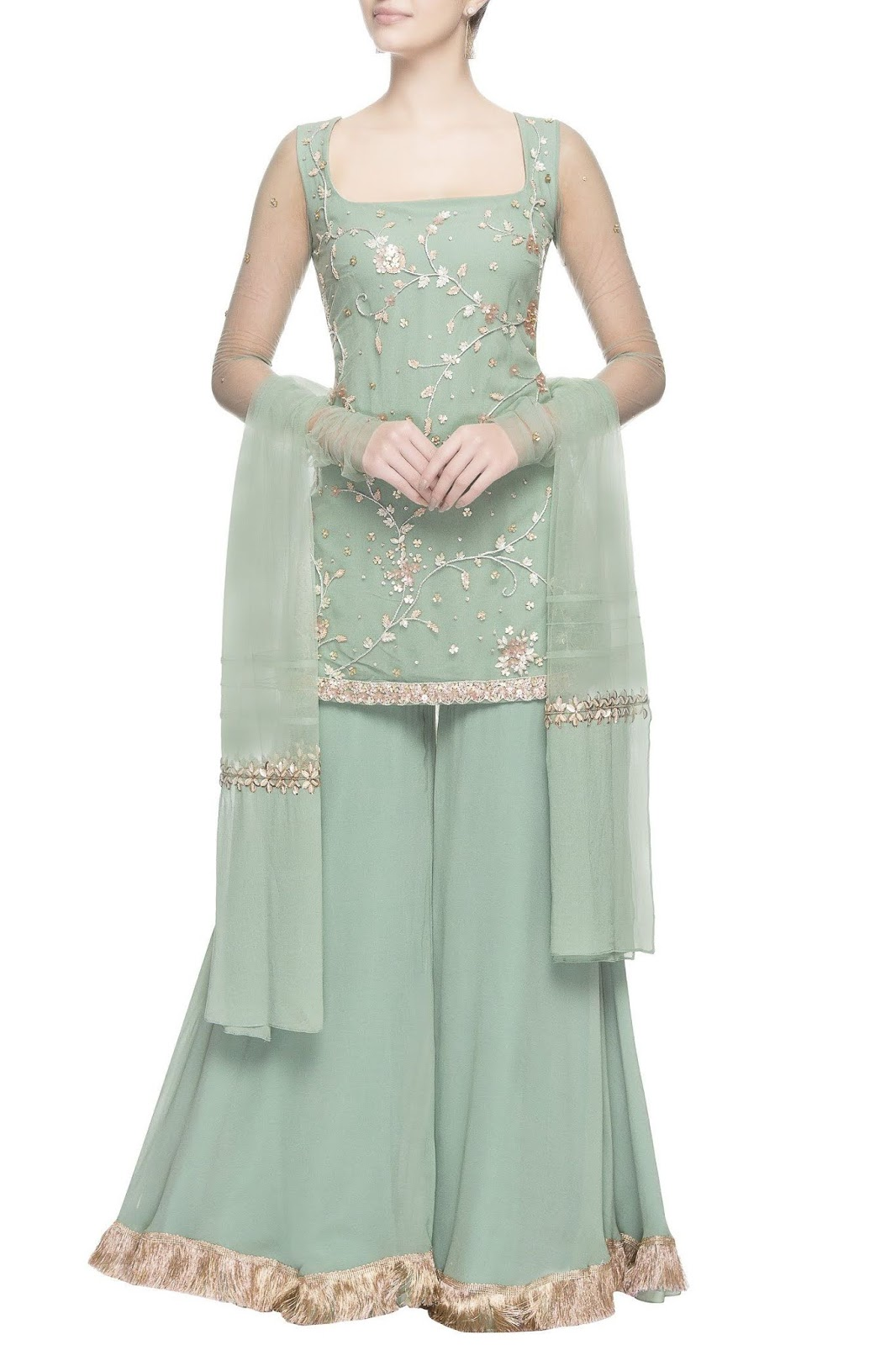 Party Wear Heavy Kurtis For Marriage (37)