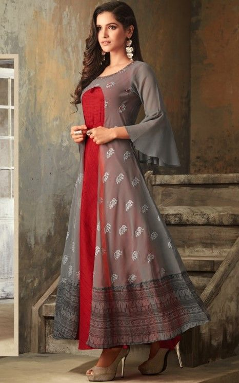 Party Wear Heavy Kurtis For Marriage (43)