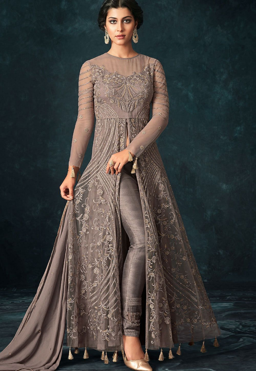 Party Wear Heavy Kurtis For Marriage (50)