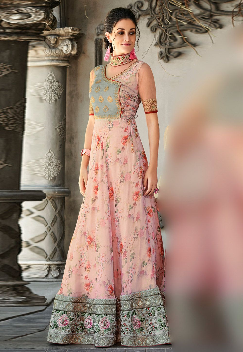 Party Wear Heavy Kurtis For Marriage (7)