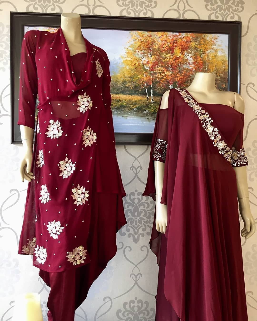 Party Wear Heavy Kurtis For Marriage (74)