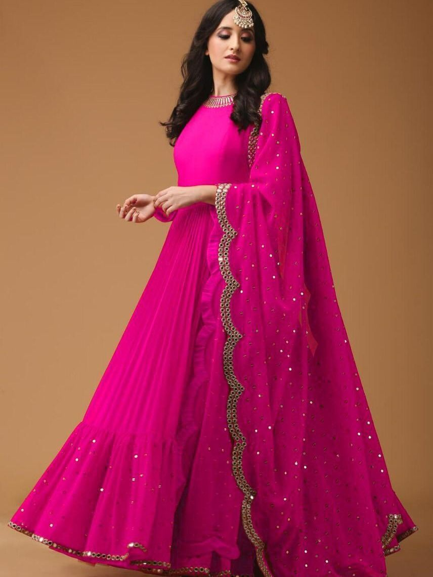 Party Wear Heavy Kurtis For Marriage (80)