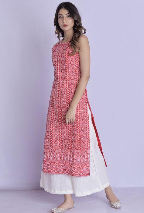 ladies long kurti designs