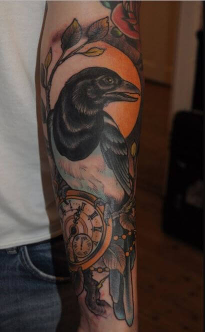 Raven Forearm Tattoo