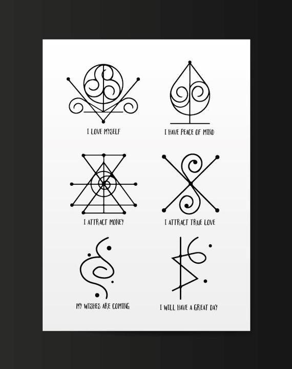 Spiritual Awakening Tattoos Symbol Sign (231)