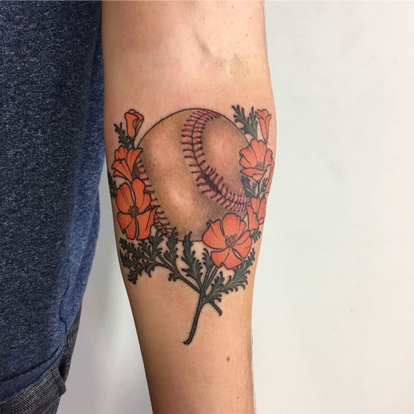 baseball tattoo designs ideas