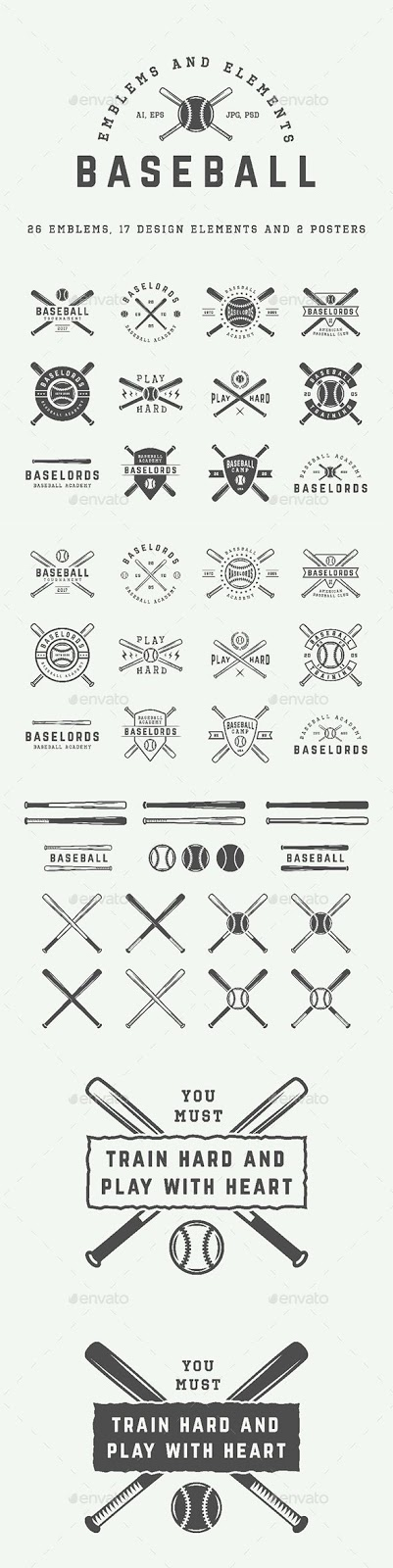 Baseball Tattoo Player Cross Bat (112)
