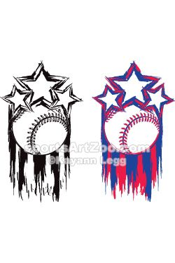 Baseball Tattoo Player Cross Bat (121)