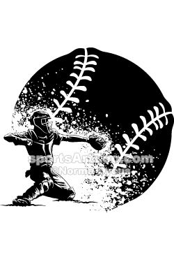 Baseball Tattoo Player Cross Bat (133)