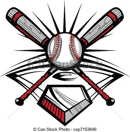 Baseball Tattoo Player Cross Bat (202)
