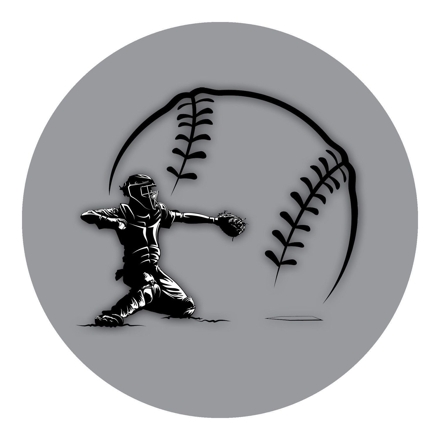 Baseball Tattoo Player Cross Bat (215)