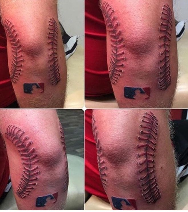 Baseball Tattoo Player Cross Bat (39)
