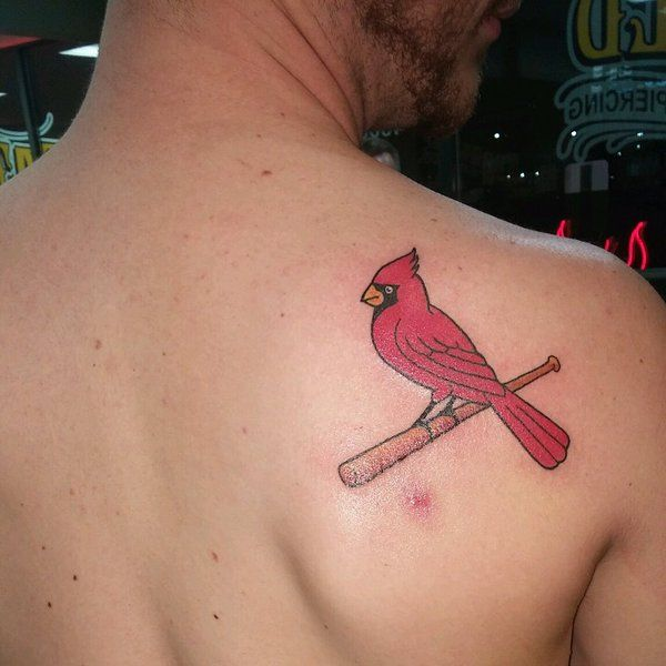 Baseball Tattoo Player Cross Bat (4)