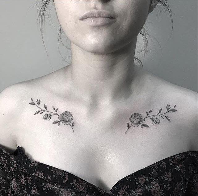 Collar Bone Tattoos For Girls