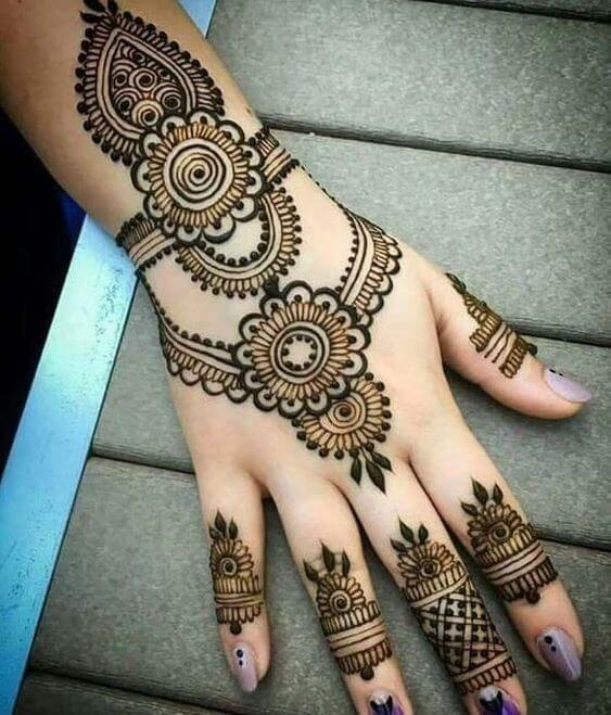 Henna Hand Tattoos For Girls