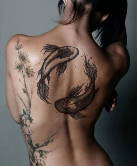 Koi Fish Tattoos For Girls