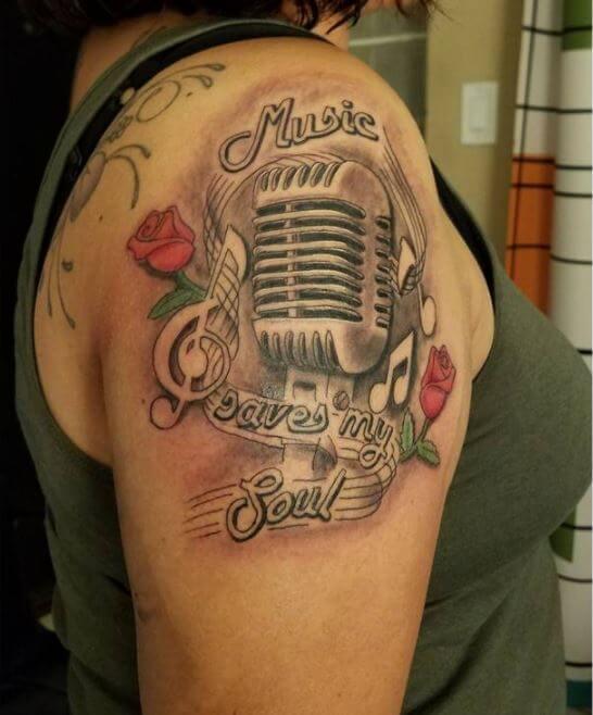 Music Tattoos For Girls