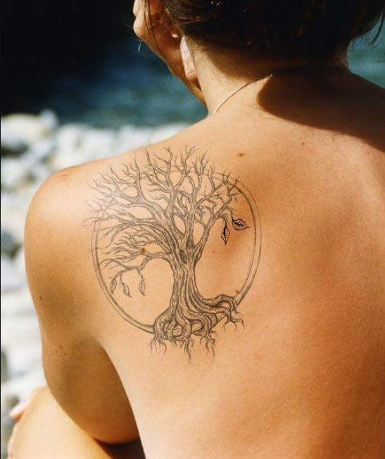 Shoulder Blade Tattoos For Girls
