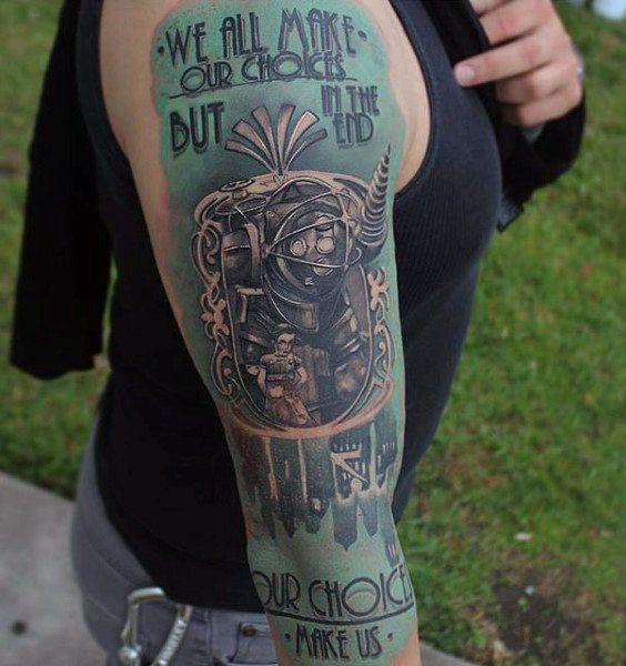 Small Simple Bioshock Tattoo Designs (104)