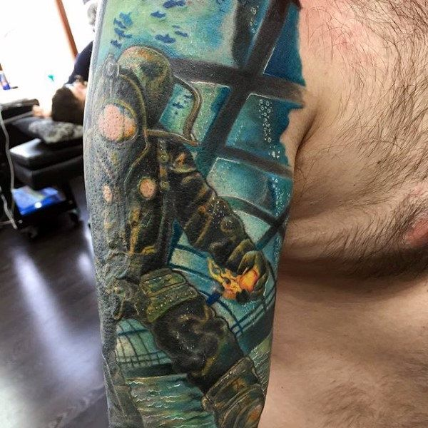 Small Simple Bioshock Tattoo Designs (122)