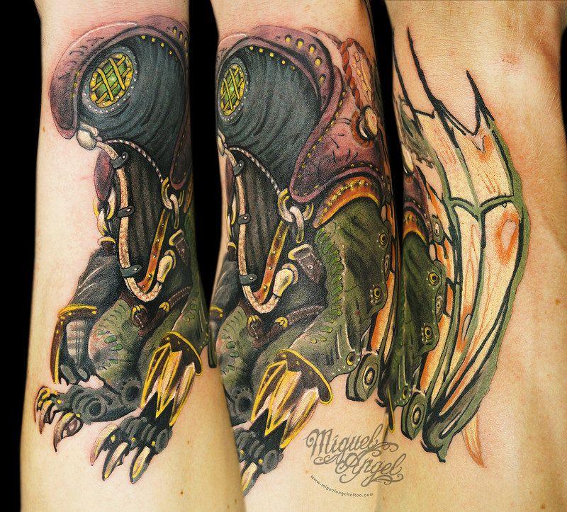Small Simple Bioshock Tattoo Designs (128)