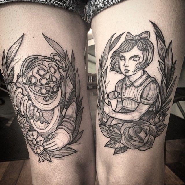Small Simple Bioshock Tattoo Designs (129)