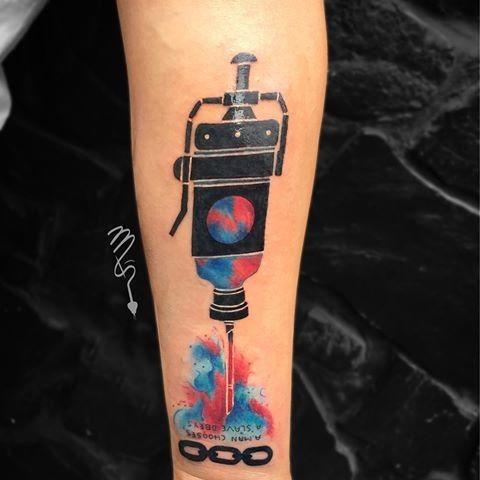 Small Simple Bioshock Tattoo Designs (138)