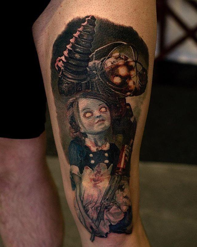 Small Simple Bioshock Tattoo Designs (139)