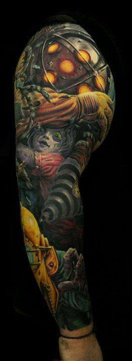 Small Simple Bioshock Tattoo Designs (155)