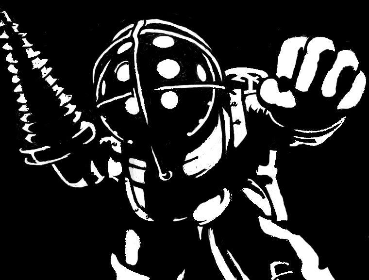 Small Simple Bioshock Tattoo Designs (179)