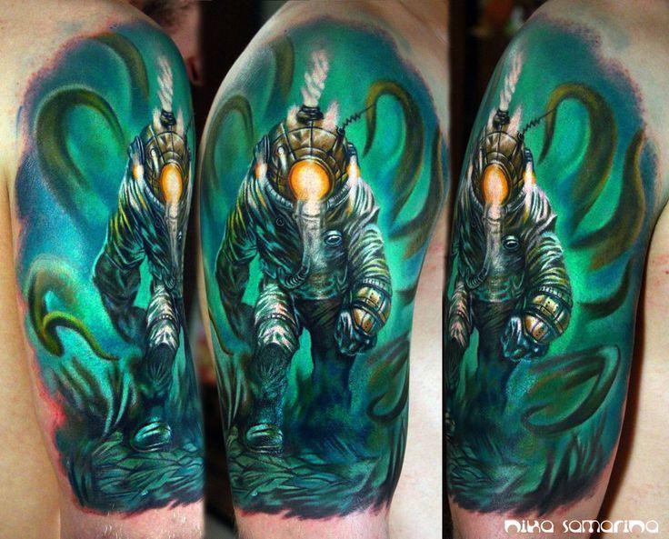 Small Simple Bioshock Tattoo Designs (183)