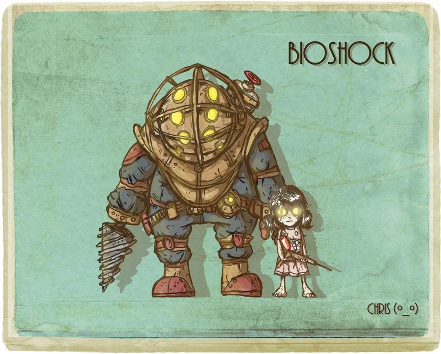 Small Simple Bioshock Tattoo Designs (194)