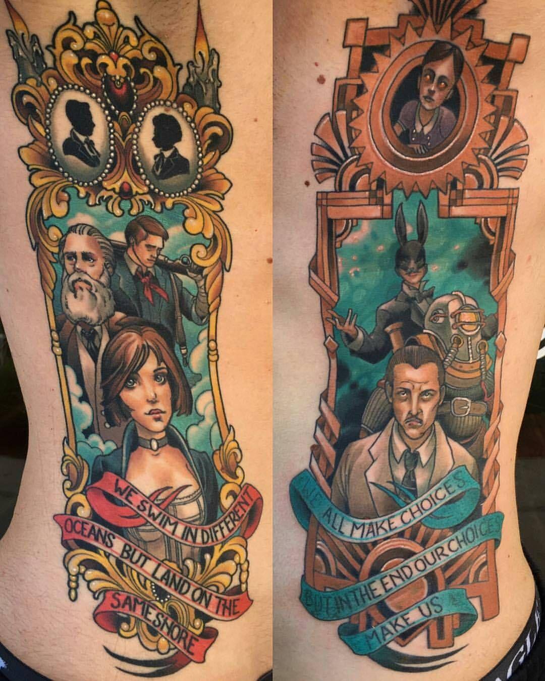 Small Simple Bioshock Tattoo Designs (195)