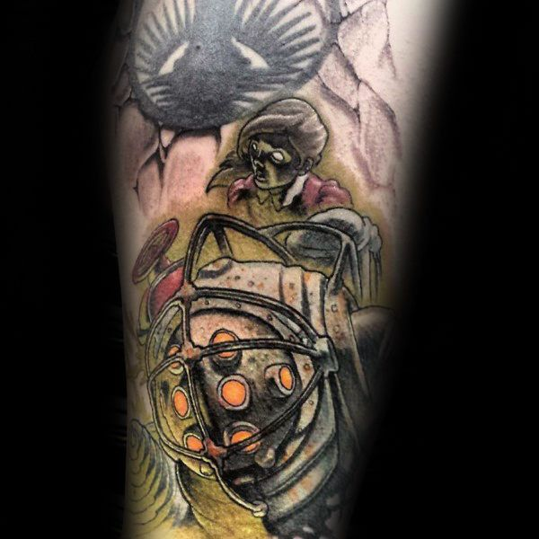 Small Simple Bioshock Tattoo Designs (32)