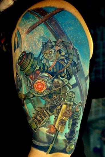 Small Simple Bioshock Tattoo Designs (33)