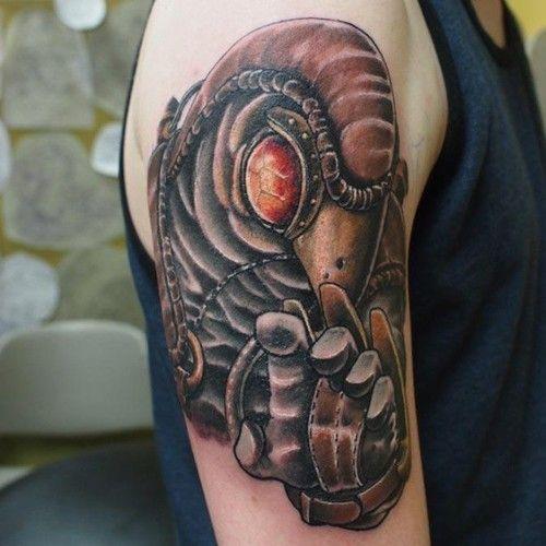 Small Simple Bioshock Tattoo Designs (5)
