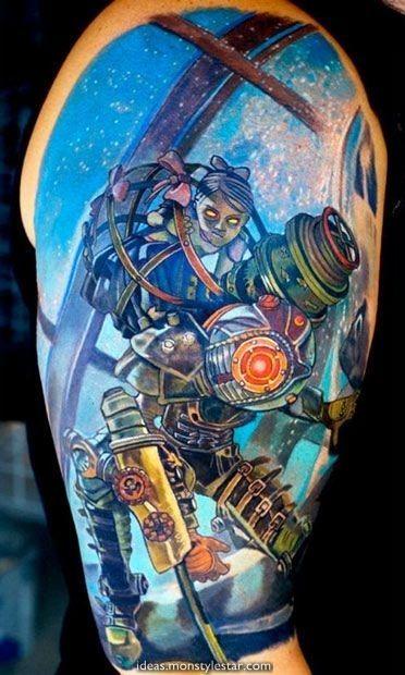 Small Simple Bioshock Tattoo Designs (52)