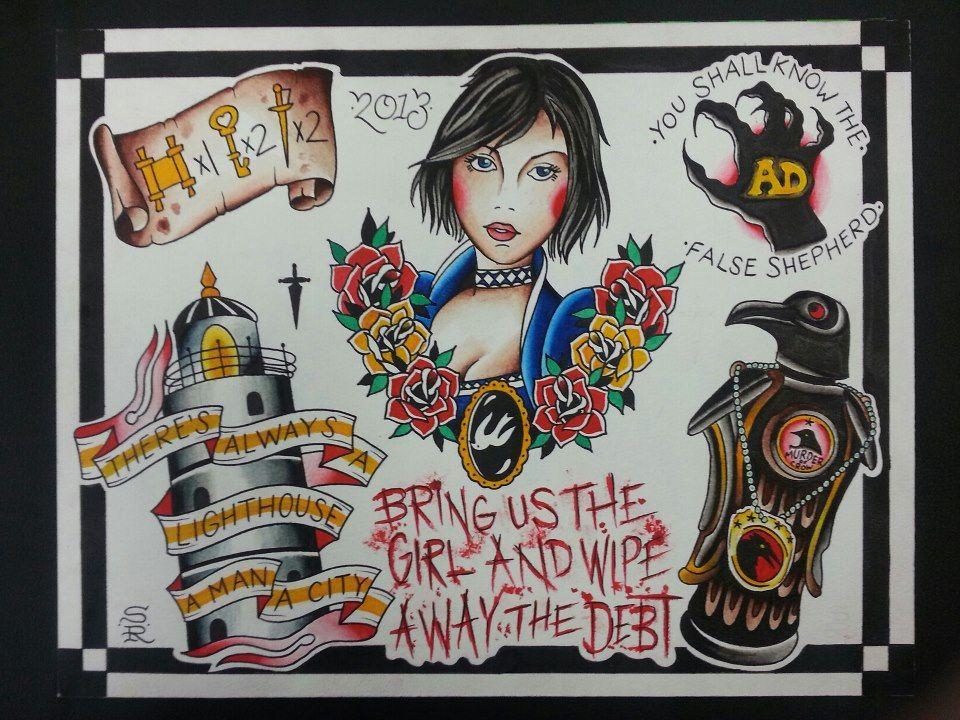 Small Simple Bioshock Tattoo Designs (54)