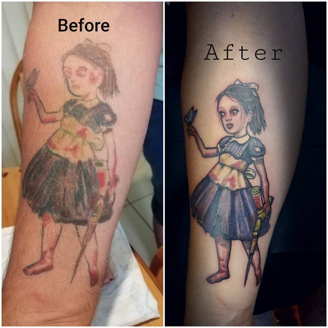 Small Simple Bioshock Tattoo Designs (74)