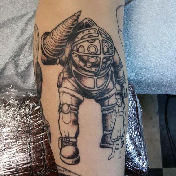 Small Simple Bioshock Tattoo Designs (86)