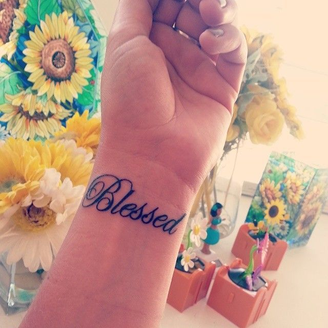 Small Simple Blessing Tattoo Designs (114)