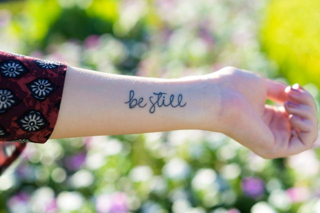 Small Simple Blessing Tattoo Designs (150)