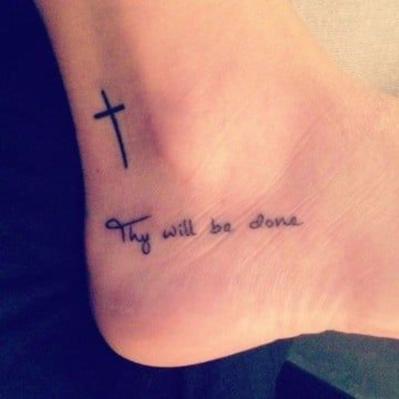 Small Simple Blessing Tattoo Designs (172)