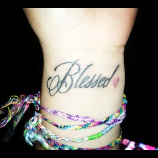 Small Simple Blessing Tattoo Designs (183)