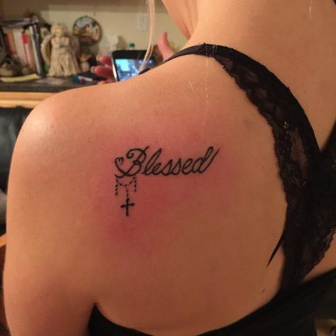 Small Simple Blessing Tattoo Designs (47)