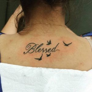 Small Simple Blessing Tattoo Designs (59)