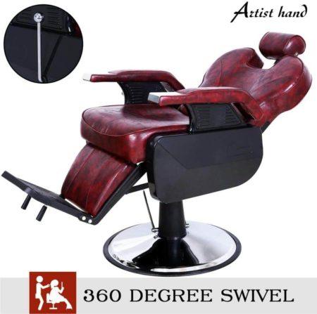 Artist Hand Barber Chair Hydraulic Recline