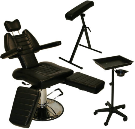 InkBed Tattoo Package Sturdy Reclining Hydraulic Ink Chair