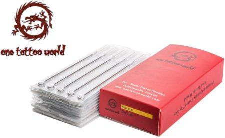 One Tattoo World 50pcs 7M1 Disposable Sterile Tattoo Needles