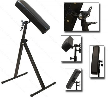 InkBed Deluxe Black Ball And Socket Armrest Leg Rest Adjustable Height And Tilt Tattoo Equipment